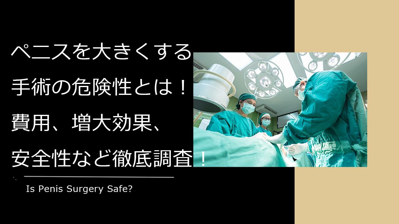 手術 ペニス 増大
